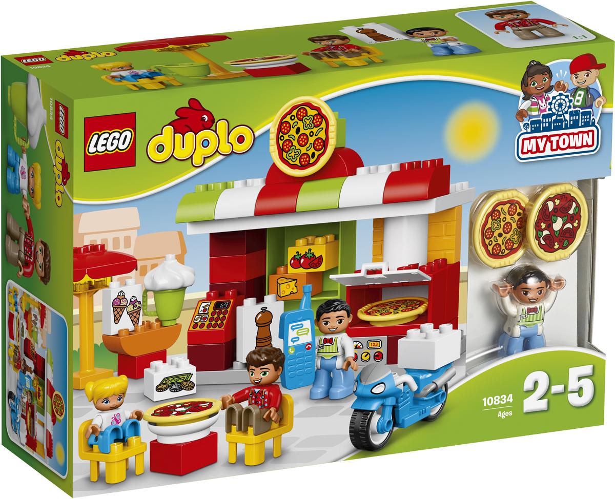 LEGO DUPLO Конструктор Пиццерия 10834 конструктор lego duplo лесной заповедник 10584