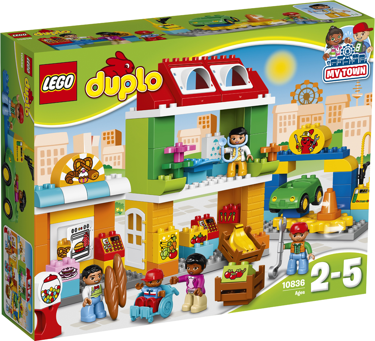 конструкторы lego lego duplo disney tm гоночная машина микки 10843 LEGO DUPLO Конструктор Городская площадь 10836