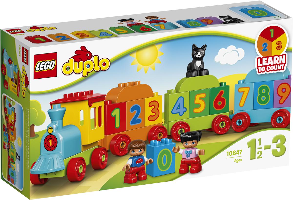 LEGO DUPLO Конструктор Поезд Считай и играй 10847 конструкторы lego lego игрушка мой первый поезд номер модели 10507 серия duplo