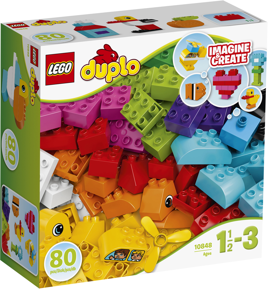 LEGO DUPLO Конструктор Мои первые кубики 10848 конструктор lego duplo лесной заповедник 10584