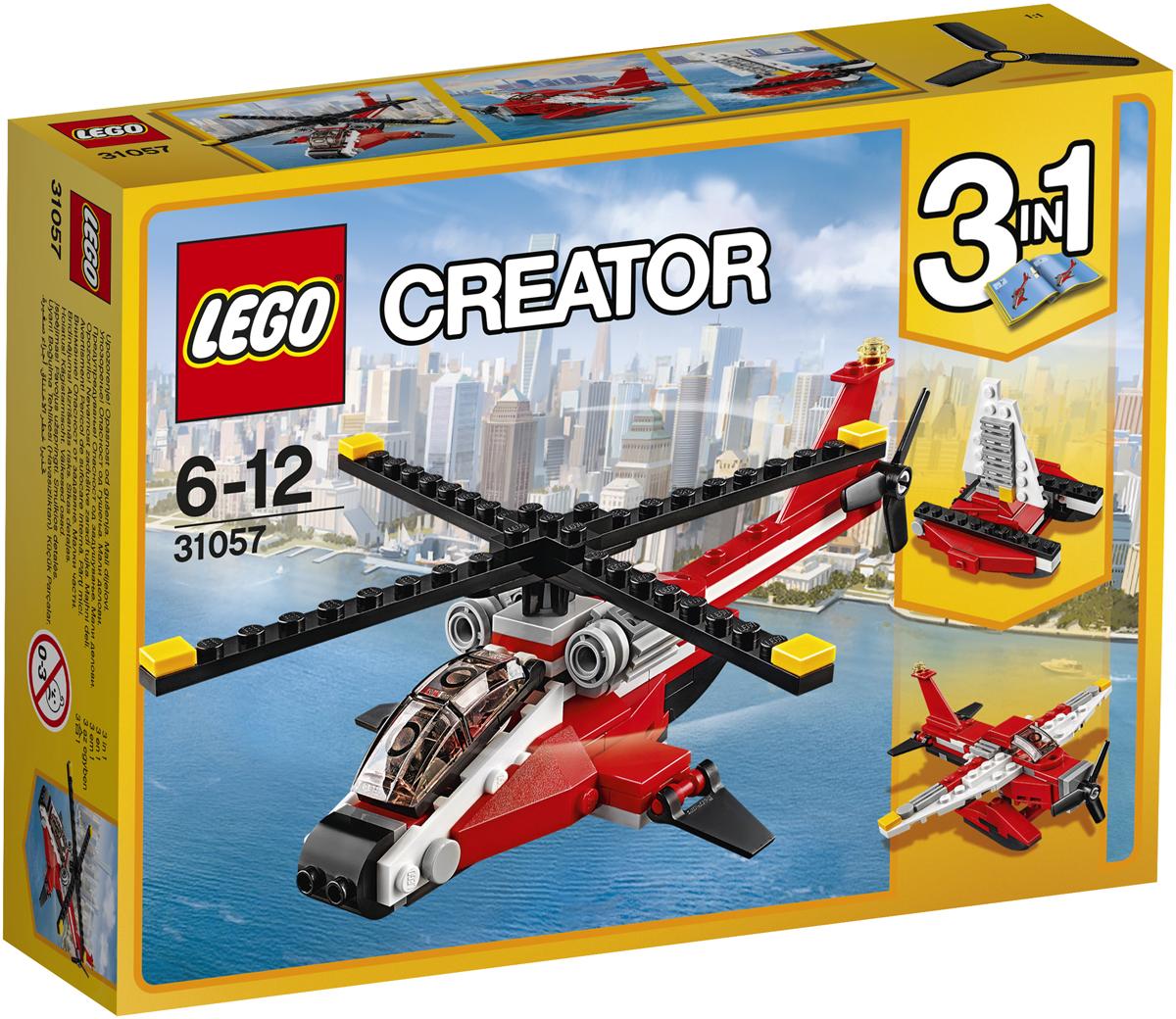 LEGO Creator Конструктор Красный вертолет 31057 конструктор lego creator мотоцикл оранжевый 31059