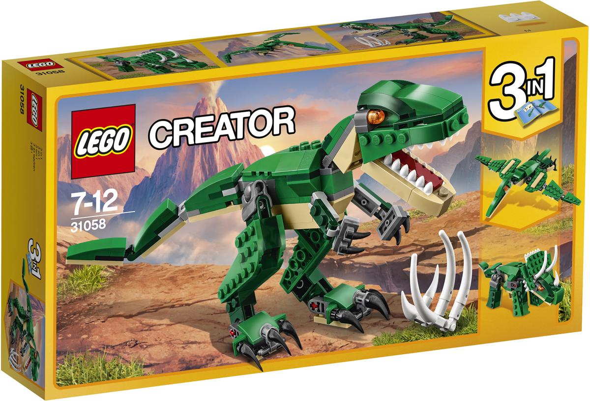 LEGO Creator Конструктор Грозный динозавр 31058 конструктор lego creator мотоцикл оранжевый 31059