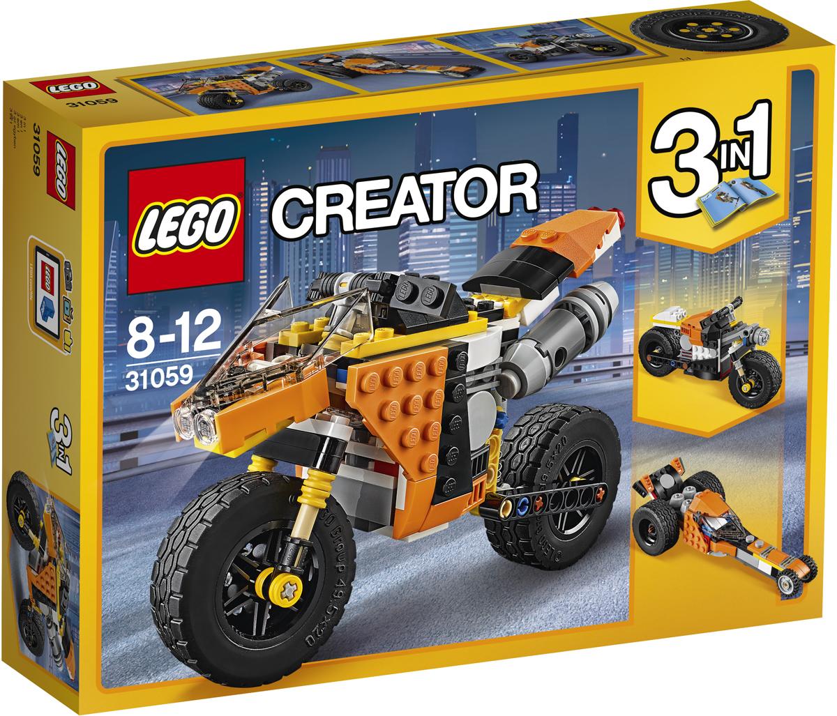 LEGO Creator Конструктор Оранжевый мотоцикл 31059 lego creator конструктор летающий робот 31034
