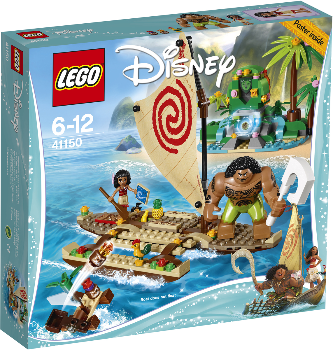 LEGO Disney Princess Конструктор Путешествие Моаны через океан 41150 lego disney princess 41150 лего принцессы путешествие моаны через океан