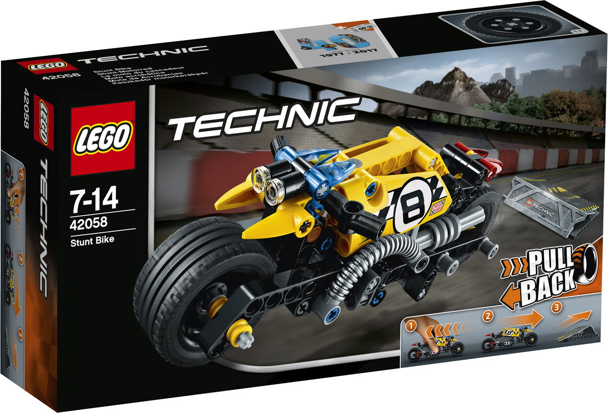LEGO Technic Конструктор Мотоцикл для трюков 42058 конструктор lego technic дорожная техника 42060