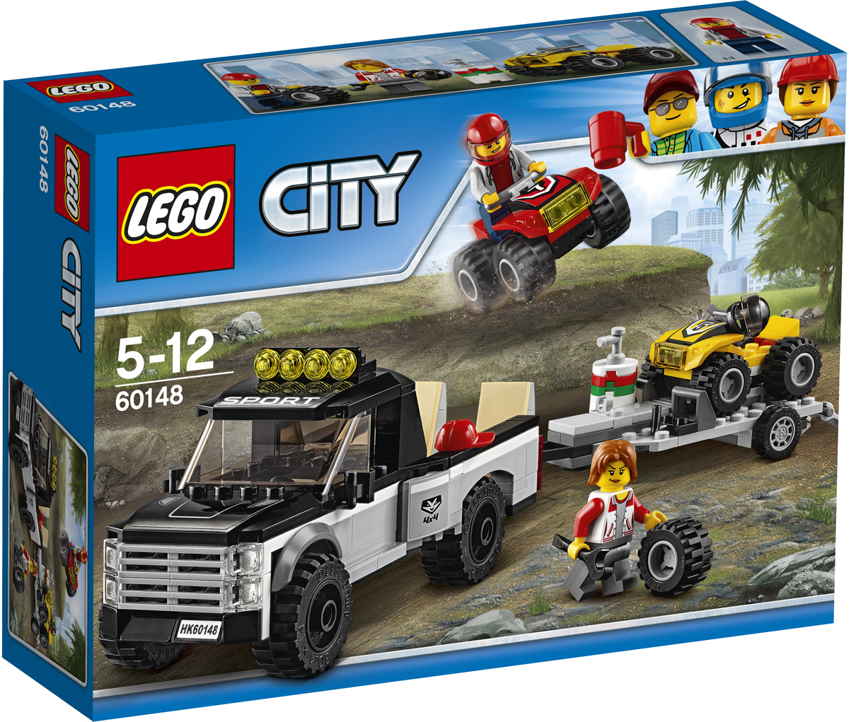 LEGO City Конструктор Гоночная команда 60148 квадроциклы