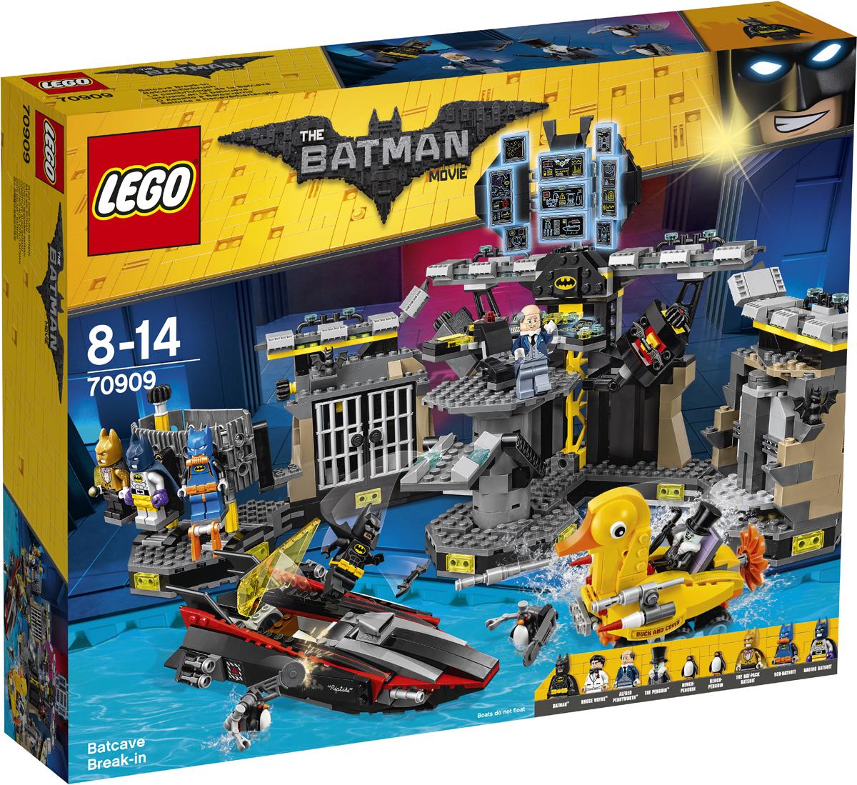 LEGO Batman Movie Конструктор Нападение на Бэтпещеру 70909 конструкторы lego lego разрушительное нападение двуликого batman movie 70915