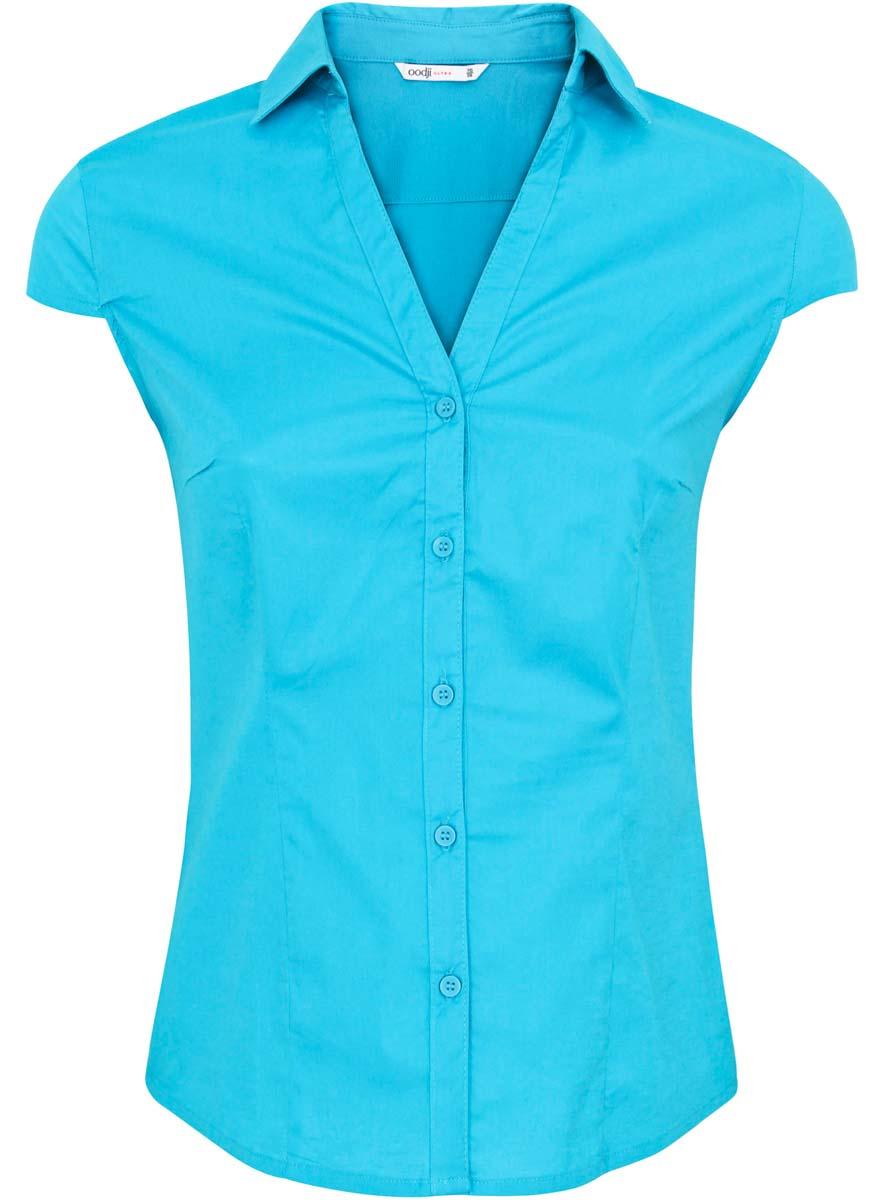 Блузка женская oodji Ultra, цвет: темно-бирюзовый. 11402089/33582/7300N. Размер 36-170 (42-170) обложка для паспорта женская d morelli lime цвет салатовый