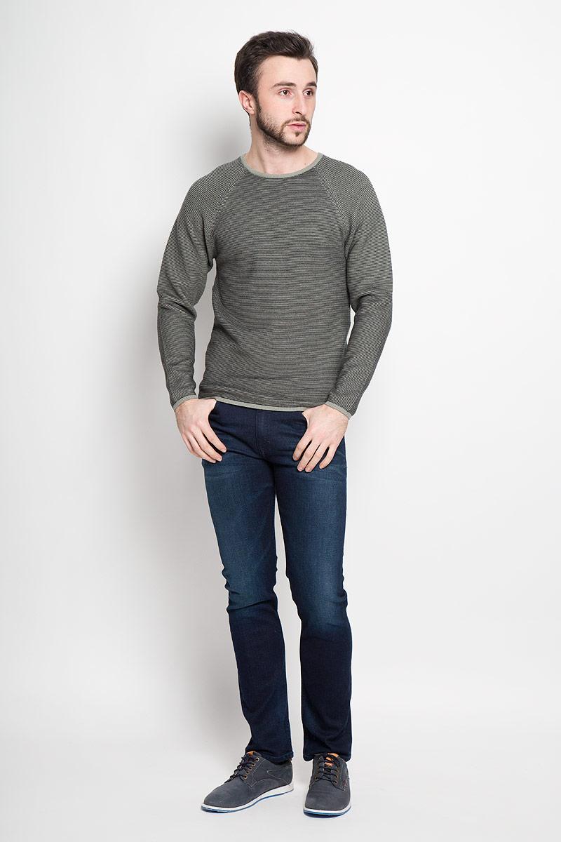 Джемпер мужской Broadway Piper, цвет: серо-зеленый, черный. 20100404_642. Размер L (50) пуловеры broadway пуловер
