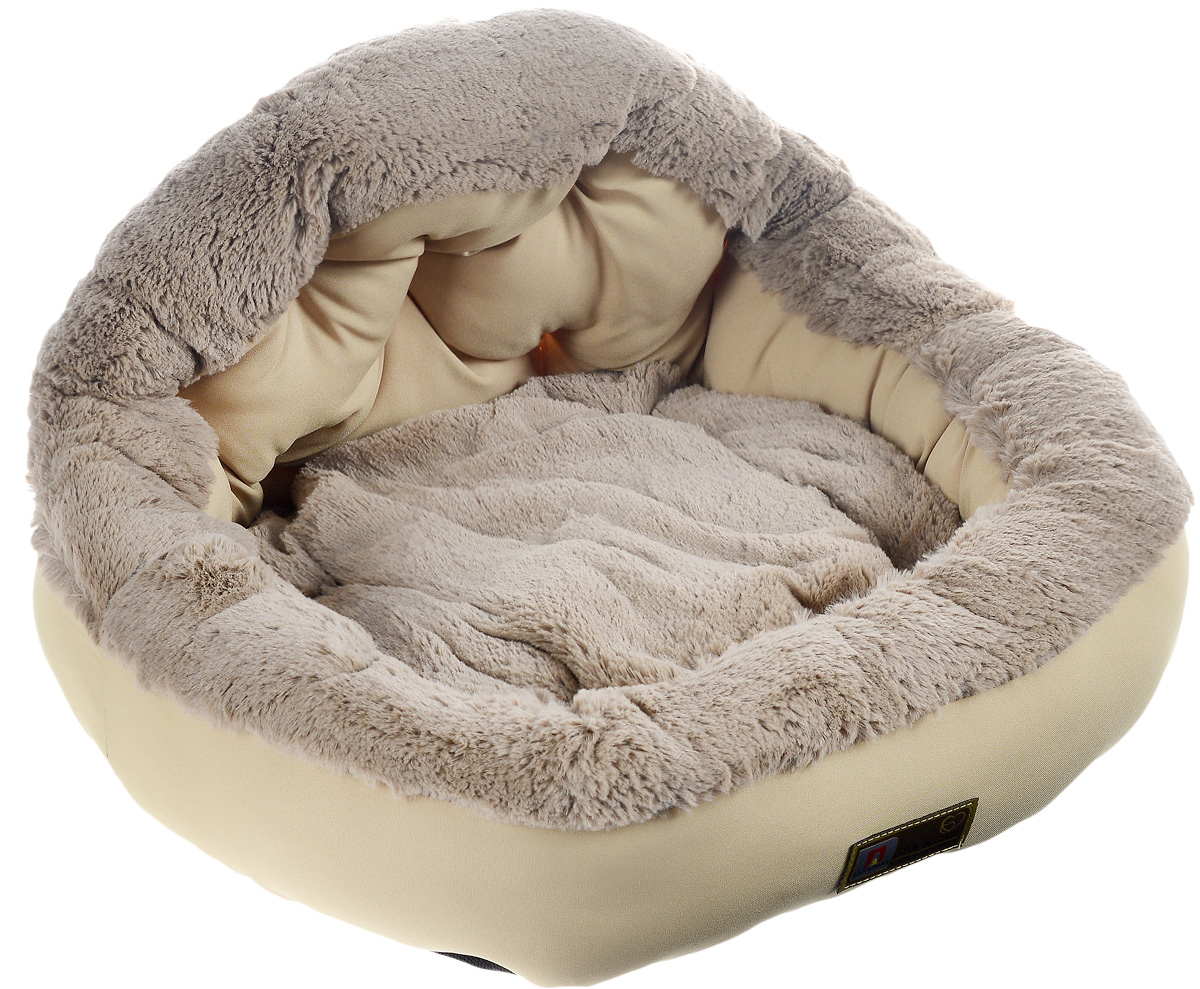 Лежак для собак и кошек Зоогурман Президент, цвет: светло-бежевый, 45 х 45 х 20 см2151_светло-бежевый