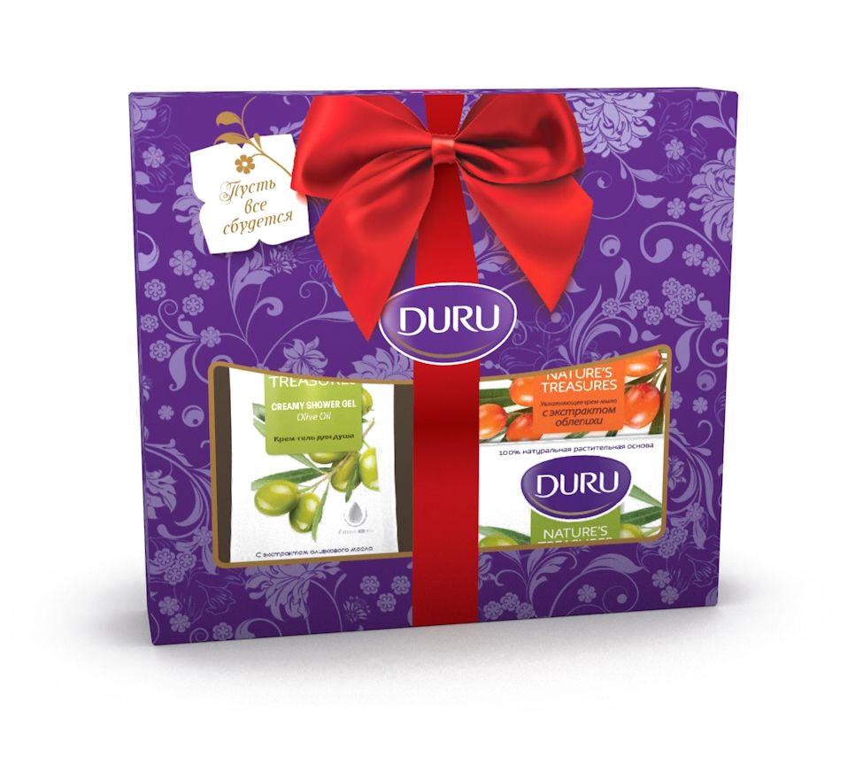 все цены на Duru Nature's Treas: Гель для душа + 2 мыла NT (оливка и облепиха) (1 мыло cо скидкой) онлайн