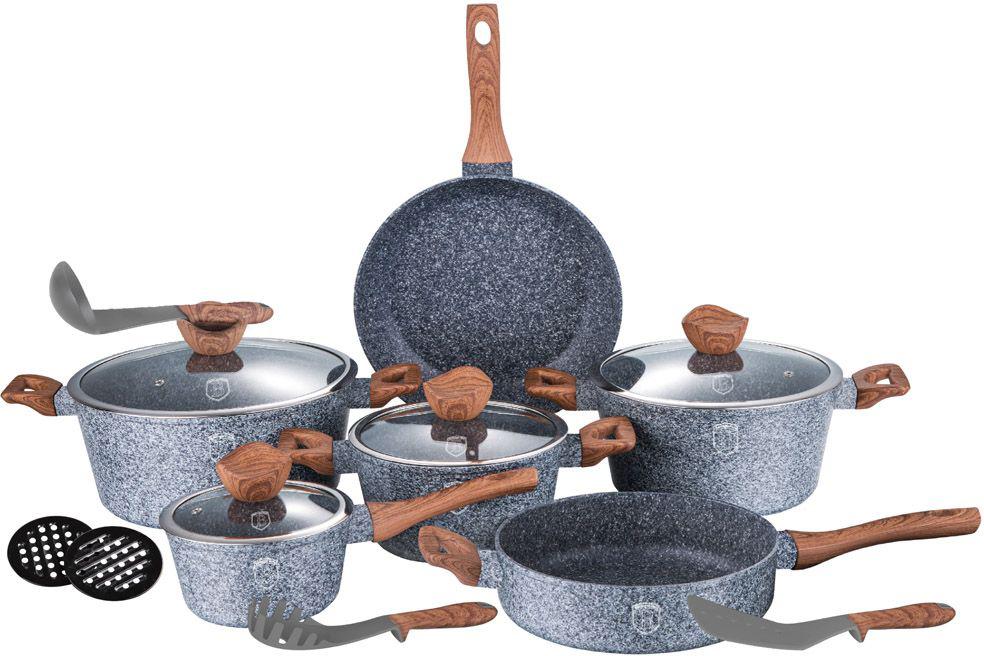 "Набор посуды Berlinger Haus ""Forest Line"", цвет: серый, 15 предметов. 1213-ВН"