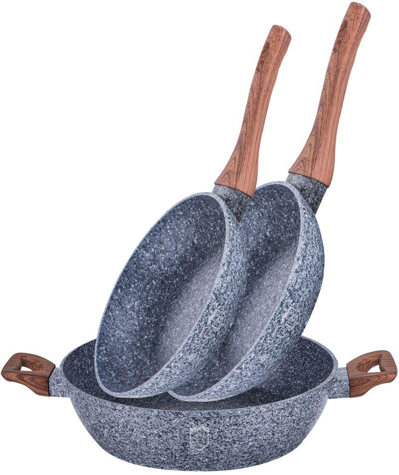 Набор сковородок Berlinger Haus Forest Line, 3 шт. 1216-ВН набор для сухой уборки rival natur line цвет бежевый черный серый 3 предмета