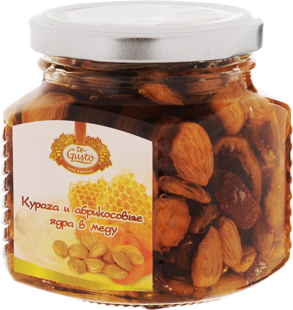 te Gusto Курага и абрикосовые ядра в меду, 300 г te gusto грецкие орехи в меду 300 г