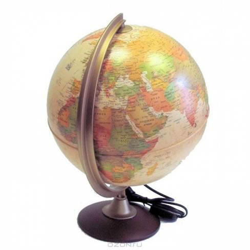 Глобус  Colombo , с политической картой мира, с подсветкой, диаметр 25 см -  Глобусы