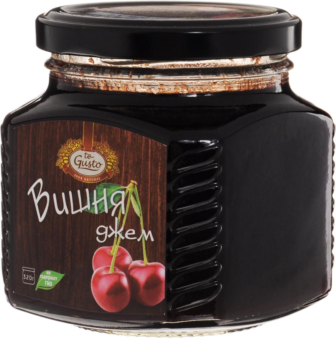 te Gusto Джем из вишни, 320 г4657155301399Ароматный джем te Gusto сварен из вишни, имеет желеобразную консистенцию с крупными кусочками фруктов. Для приготовления используются только свежие, тщательно отобранные плоды, созревшие в экологически чистых местах.Вишня благотворно воздействует на общее состояние организма, укрепляет иммунитет, стимулирует обменные процессы и сводит к минимуму риск развития онкологических заболеваний. Кроме того, джем обладает способностью уничтожать вредоносные бактерии и помогает при простудных заболеваниях, оказывая активное отхаркивающее действие. Пектины понижают уровень холестерина, улучшают пищеварение и нормализуют перистальтику кишечника.