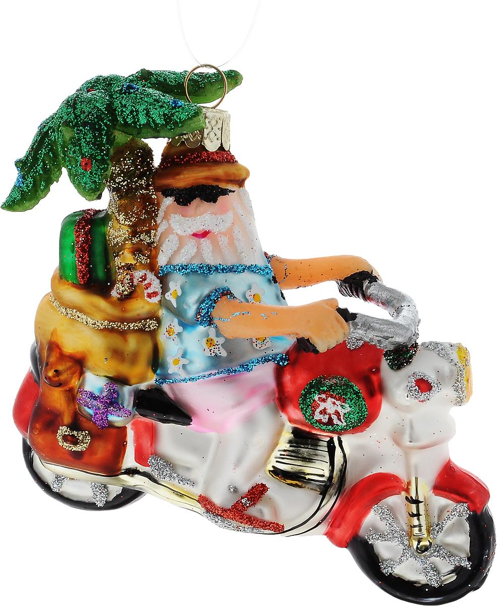 Украшение новогоднее подвесное Winter Wings Байкер, 10 смN07618УкрашенийWinter Wings Байкер прекрасно подойдет для праздничного декора новогодней ели. Изделие выполнено из высококачественного стекла.Для удобного размещения на елкепредусмотрено текстильная петелька. Елочная игрушка - символ Нового года. Она несет в себе волшебство и красоту праздника. Создайте в своем доме атмосферу веселья и радости, украшая новогоднюю елку нарядными игрушками, которые будут из года в год накапливать теплоту воспоминаний. Откройте для себя удивительный мир сказок и грез. Почувствуйте волшебные минуты ожидания праздника, создайте новогоднее настроение вашим дорогим и близким.Размер: 10 см.