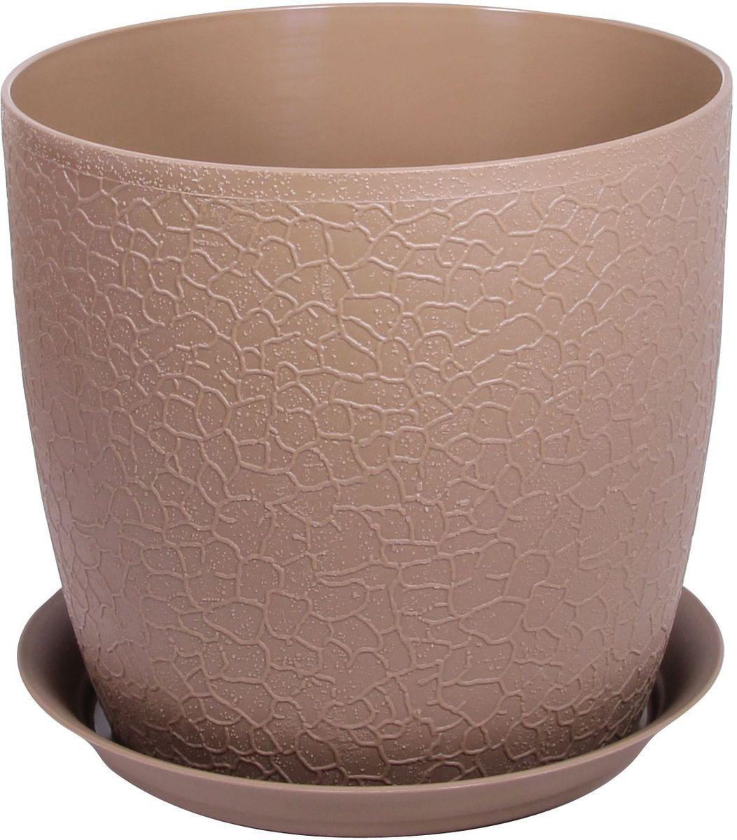 Кашпо Idea Верона, с подставкой, цвет: бежевый, диаметр 18 смМ 3097Кашпо Idea Верона изготовлено из полипропилена (пластика). Специальная подставка предназначена для стока воды. Изделие прекрасно подходит для выращивания растений и цветов в домашних условиях.Диаметр кашпо: 18 см.Высота кашпо: 16,1 см.