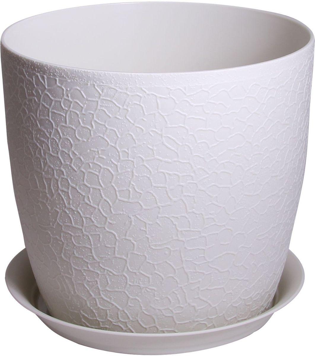 Кашпо Idea Верона, с подставкой, цвет: белый, диаметр 18 см кашпо idea верона с подставкой цвет белый диаметр 14 см
