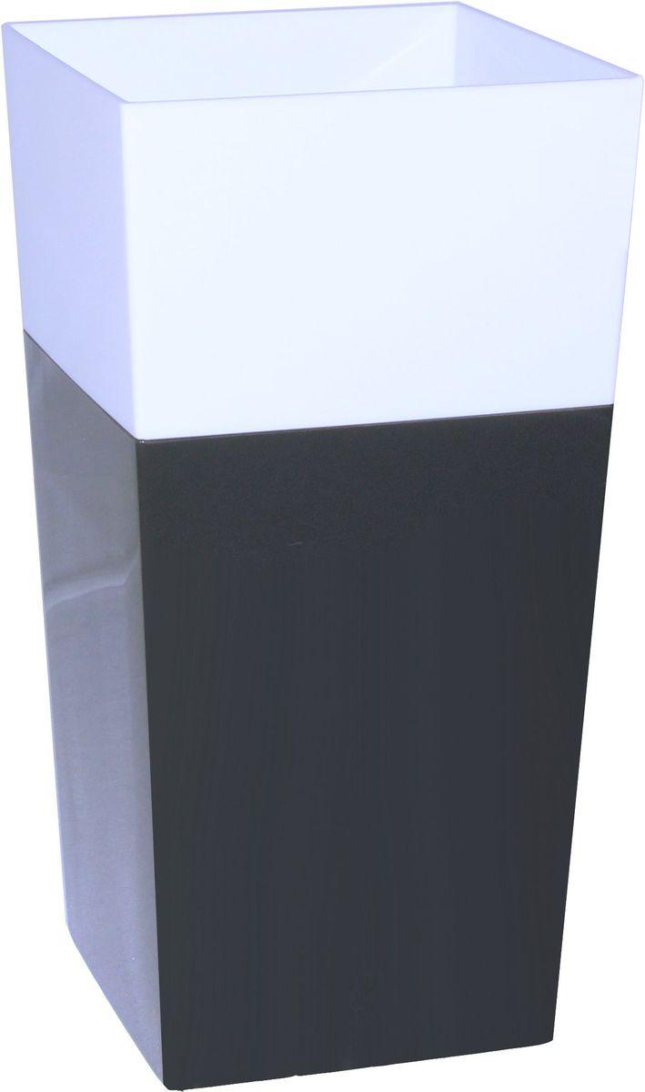 Кашпо Idea Дуал, цвет: графитовый, 14 х 14 х 26 смМ 3099Кашпо Idea Дуал изготовлено из прочного полипропилена (пластика) и предназначено для выращивания растений, цветов и трав в домашних условиях. Такое кашпо порадует вас функциональностью, а благодаря лаконичному дизайну впишется в любой интерьер помещения. Размер кашпо: 14 х 14 х 26 см.