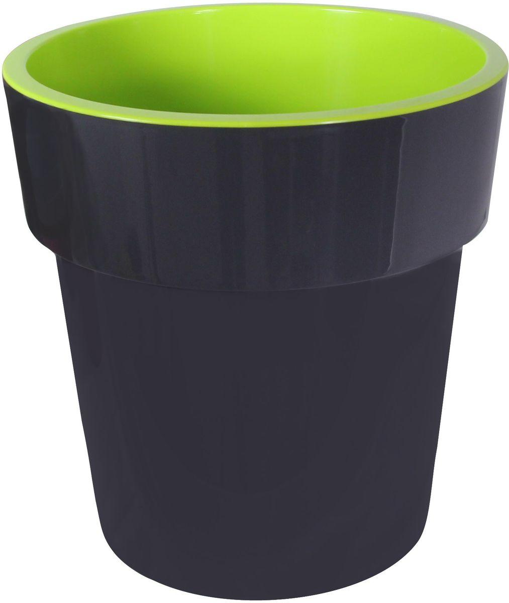 Кашпо Idea Тубус, цвет: графитовый, диаметр 15 смМ 3164Кашпо Idea Тубус изготовлено из прочного пластика. Изделие прекрасно подходит для выращивания растений и цветов в домашних условиях. Стильный современный дизайн органично впишется в интерьер помещения.Диаметр кашпо: 15 см. Высота кашпо: 15 см.