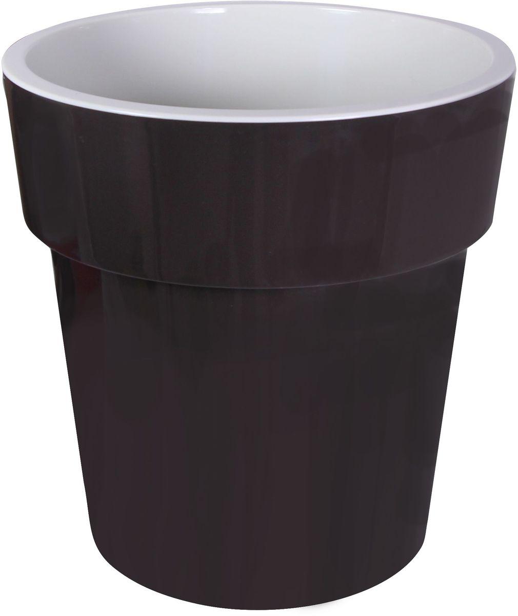 Кашпо Idea Тубус, цвет: коричневый, диаметр 15 смМ 3164Кашпо Idea Тубус изготовлено из прочного пластика. Изделие прекрасно подходит для выращивания растений и цветов в домашних условиях. Стильный современный дизайн органично впишется в интерьер помещения.Диаметр кашпо: 15 см. Высота кашпо: 15 см.