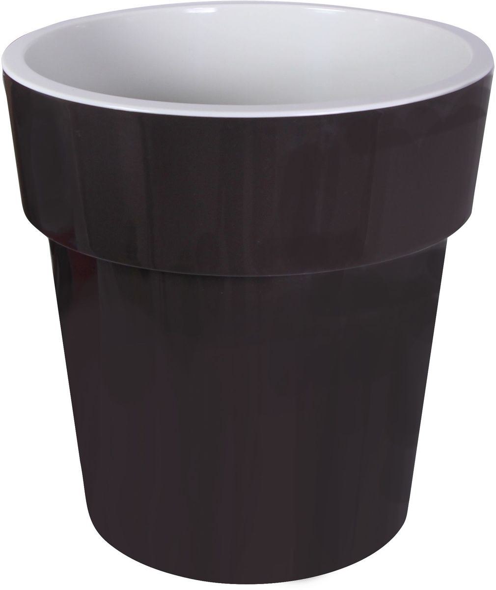 Кашпо Idea Тубус, цвет: коричневый, диаметр 25 смМ 3166Кашпо Idea Тубус изготовлено из прочного пластика. Изделие прекрасно подходит для выращивания растений и цветов в домашних условиях. Стильный современный дизайн органично впишется в интерьер помещения.Диаметр кашпо: 25 см. Высота кашпо: 25 см.