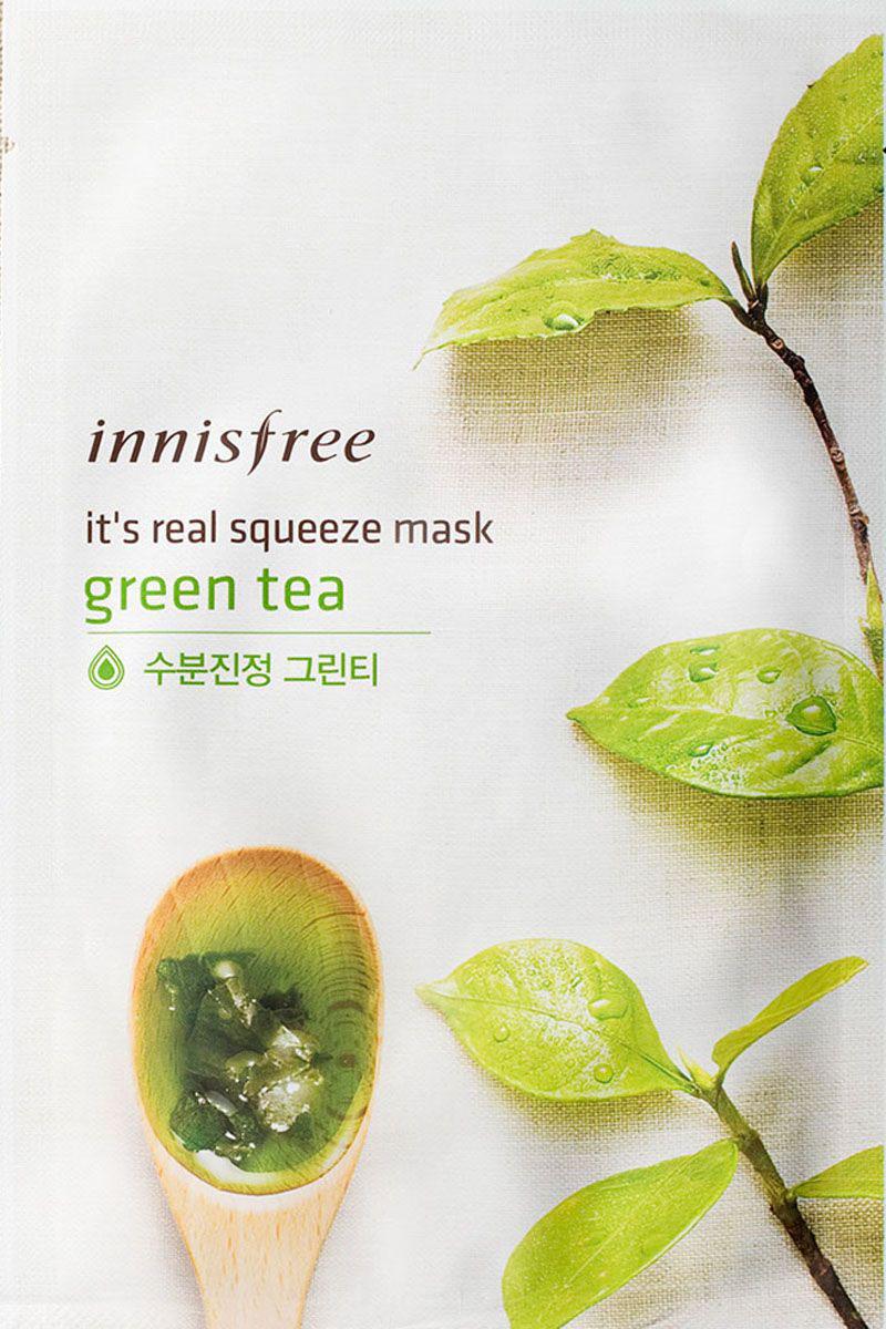 Innisfree It's Real Маска для лица с экстрактом зеленого чая, 20 мл газовая плита de luxe 5040 33г газовая духовка белый