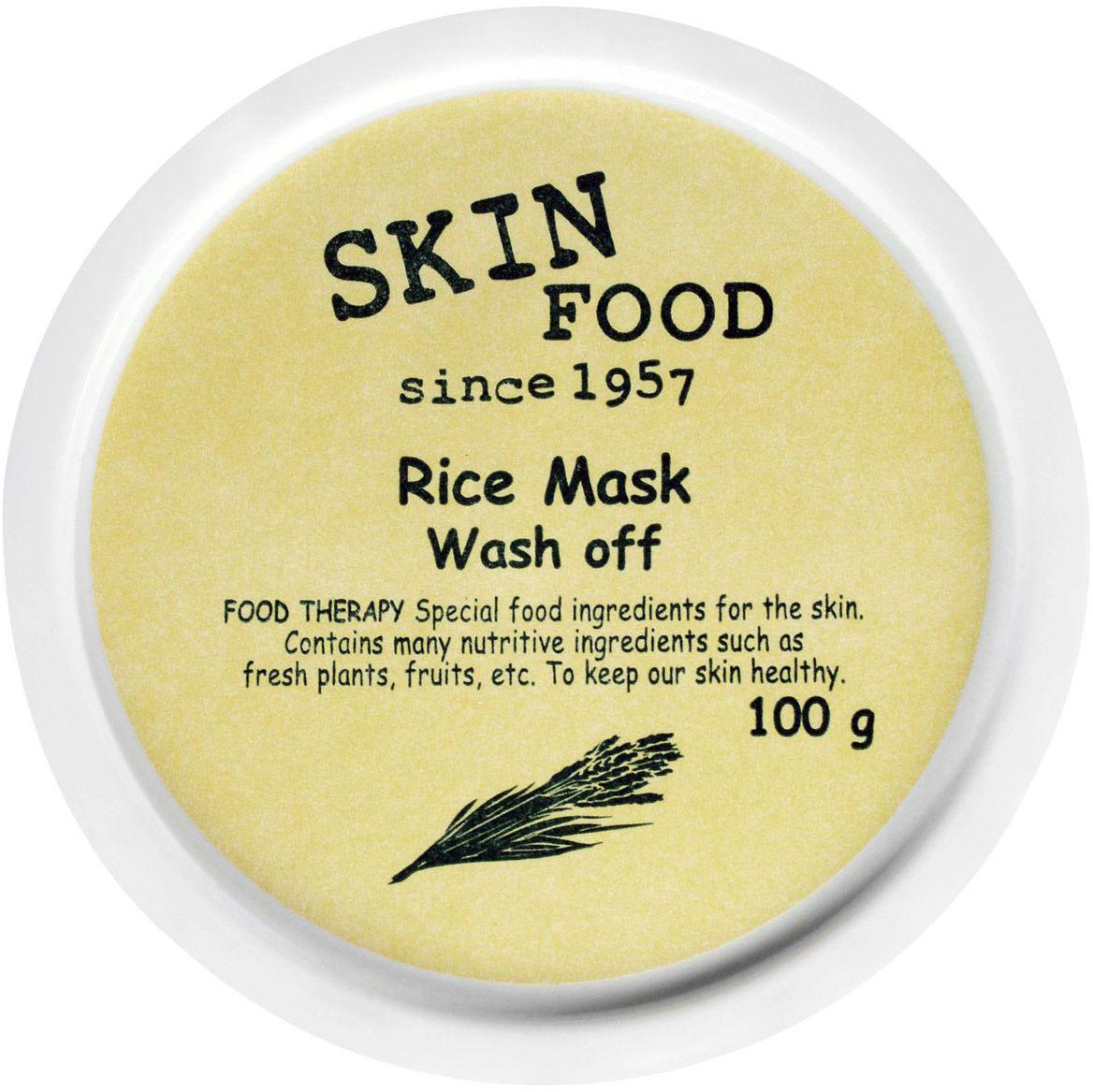 Skinfood Rice Рисовая очищающая маска, 100 грУТ-00000303Питательная маска с экстрактом риса для деликатного очищения пор и смягчения кожи, с молочным ароматом и плотной консистенцией, благодаря чему оказывает массажное действие и разглаживает структуру кожи. Содержит микроабразивные частички, очищая кожу от омертвевших клеток, не повреждая ее. Экстракт риса увлажняет и питает, смягчает, отшелушивает и осветляет.