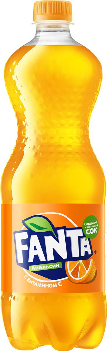 Fanta Апельсин напиток сильногазированный, 1 л напиток fanta апельсин газированный