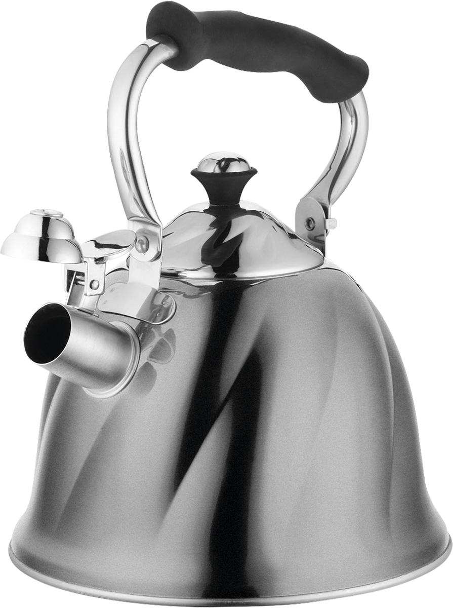 Чайник со свистком Marta, 3 л. MT-3046MT-3046Корпус - Сталь 304, утолщенные стенки, со свистком, емкость 3,0л, 3-х слойное капсульное дно, складная ненагреваемая ручка с силиконовым покрытием, герметичная крышка