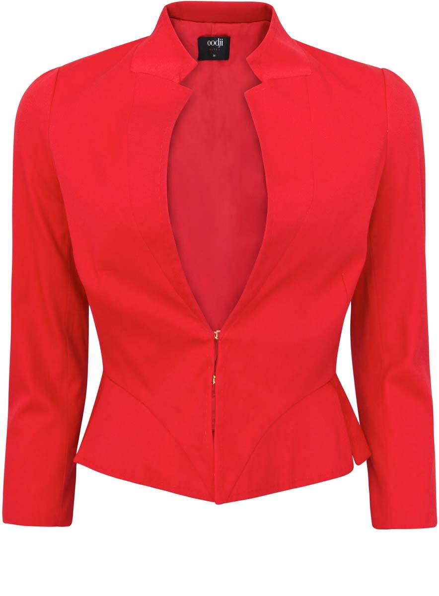 Жакет женский oodji Ultra, цвет: красный. 11200278-2/18854/4500N. Размер 40-170 (46-170)