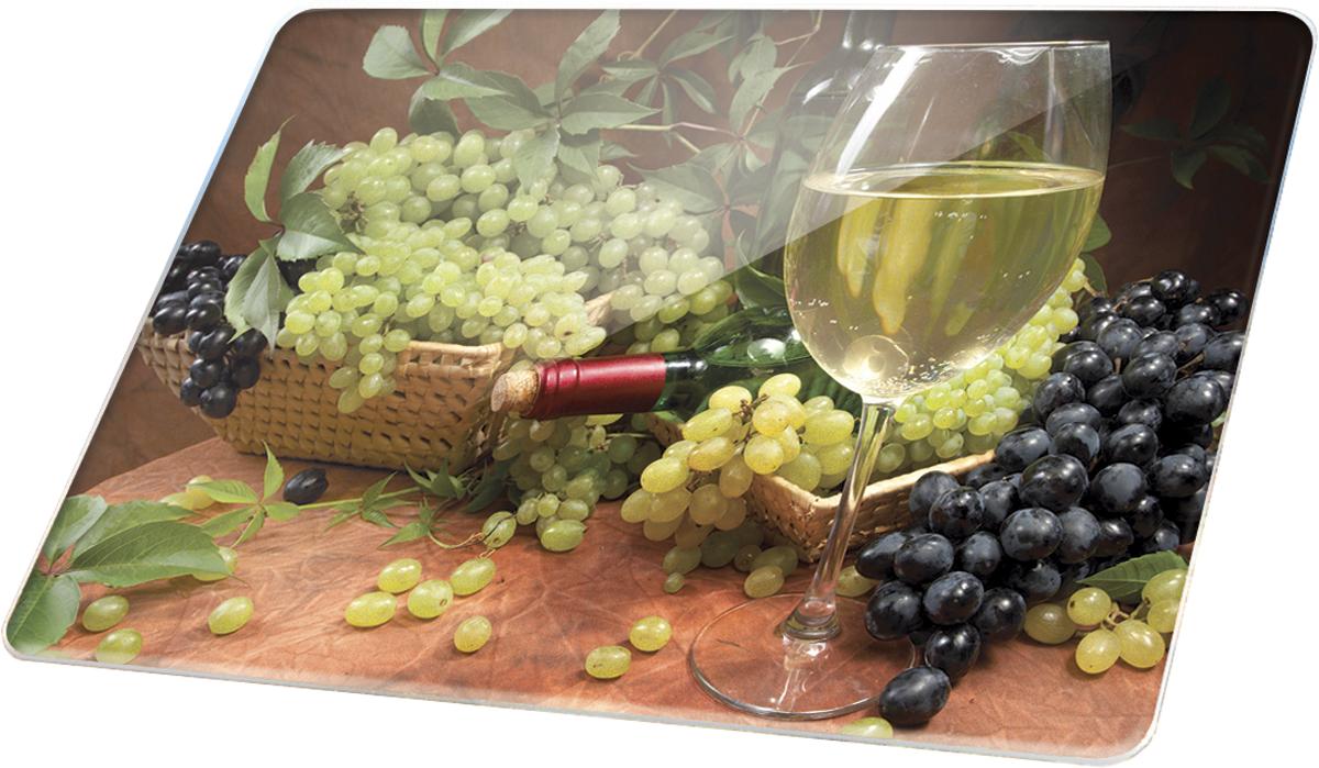 """Многофункциональная разделочная доска Marta  """"Белое вино"""" выполнена из закаленного  жаропрочного стекла с рифленой поверхностью.  Прекрасно подходит для разделки мяса, рыбы,  приготовления теста и нарезки любых продуктов.  Разделочную доску можно использовать как подставку  под горячее блюдо.   Закаленное жаропрочное стекло устойчиво к  механическим повреждениям, порезам, ударам,  царапинам, а также к температурным перепадам и  бытовой химии, отлично чистится, в том числе в  посудомоечной машине, не впитывает посторонние  запахи, не выделяет примесей, сохраняя вкус и аромат  продуктов натуральными.  Многофункциональность и превосходный дизайн с  высококачественным фотопринтом изображения делают  доску не только незаменимым кухонным аксессуаром, но  и подлинным украшением кухонного интерьера в любом  стиле."""