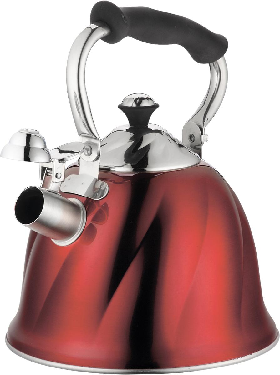 Чайник Marta, со свистком, цвет: красный, 3 л. MT-3045MT-3045 красныйЧайник Marta выполнен из высококачественной нержавеющей стали и оснащен ненагревающейся складной ручкой с силиконовым покрытием. Теплоемкое трехслойное капсульное дно обеспечивает быстрый нагрев чайника и равномерно распределяет тепло по его корпусу. Кипячение воды занимает меньше времени, а вода дольше остается горячей. Свисток на носике чайника - привычный элемент комфорта и безопасности. Своевременный сигнал о готовности кипятка сэкономит время и электроэнергию, вода никогда не выкипит полностью, а чайник прослужит очень долго. Оригинальный механизм поднятия свистка добавляет чайнику индивидуальности - при поднятии чайника за ручку свисток автоматически открывает носик для удобства наливания кипятка в чашку. Чайник подходит для всех видов плит, кроме индукционных.
