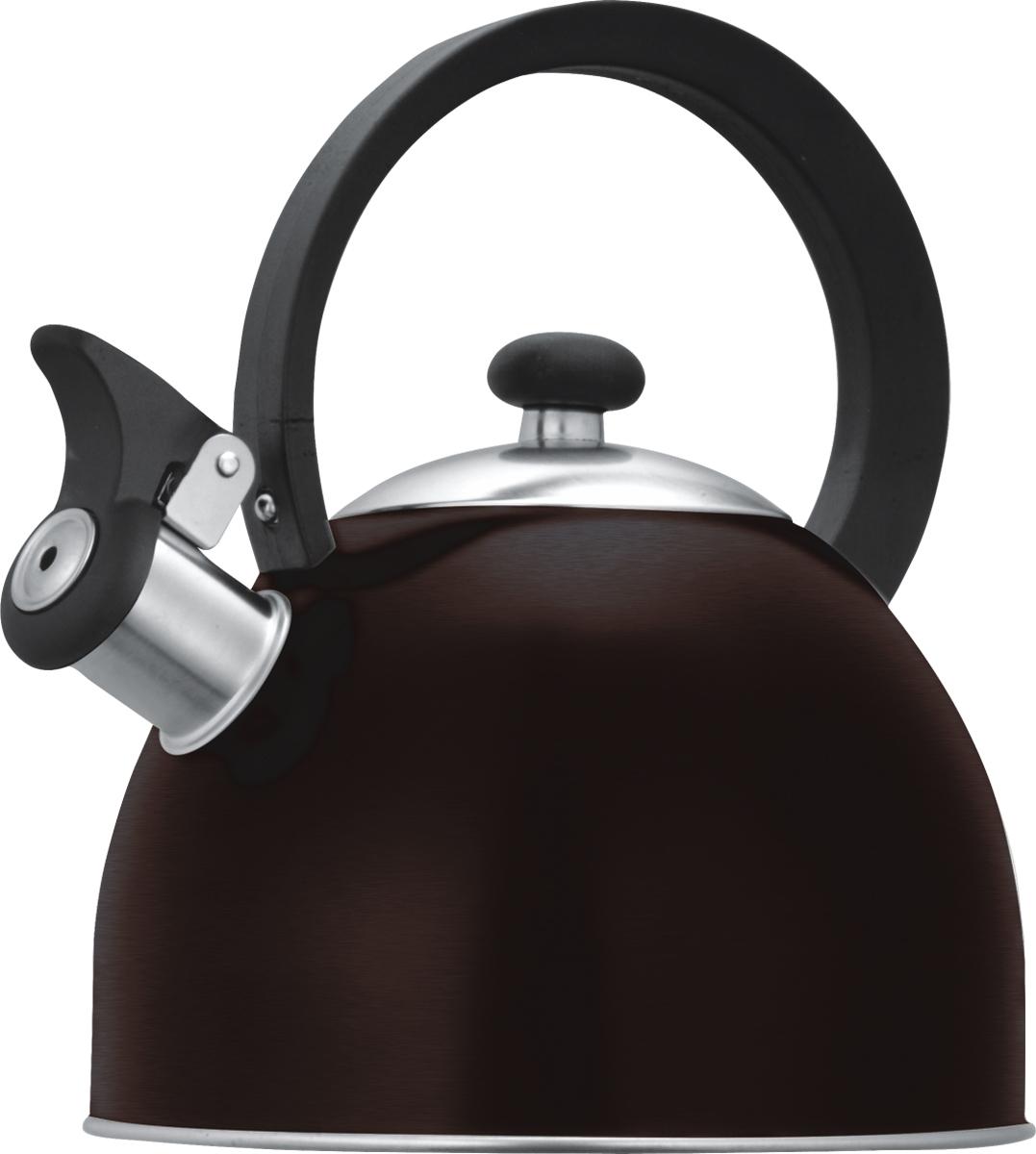 Чайник Lumme со свистком, цвет: шоколад, 1,8 лLU-256 шоколадЧайник в корпусе из высококачественной пищевой нержавеющей стали с термостойкой ненагревающейся ручкой и свистком, поднимающимся с помощью рычажка.Высококачественная нержавеющая сталь не имеет запаха, не выделяет примесей и сохраняет все природные натуральные свойства воды.Свисток на носике чайника - привычный элемент комфорта и безопасности, потому что своевременный сигнал о готовности кипятка сэкономит время и электроэнергию, вода никогда не выкипит полностью, и чайник прослужит очень долго.Оригинальный механизм поднятия свистка с помощью рычажка добавляет чайнику индивидуальности, он необычайно комфортен в использовании и может стать хорошим подарком для близких.Чайник из нержавеющей стали подходит для всех видов плит, кроме индукционных: электрических, стеклокерамических, галогенных, газовых.