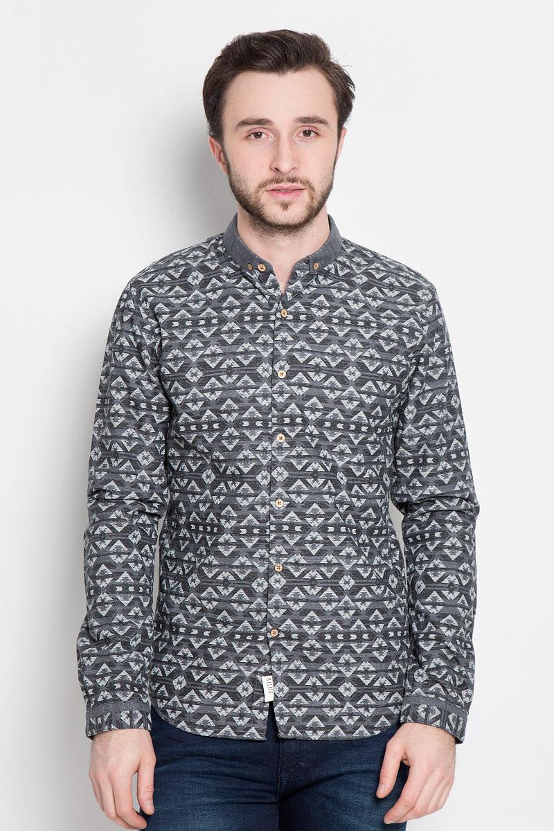 Рубашка мужская Tom Tailor, цвет: серый. 2032745.00.12_2802. Размер XL (52) рубашка tom tailor denim tom tailor denim to793emzem58