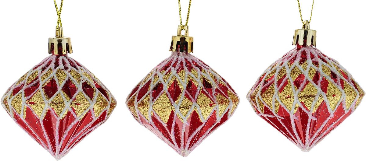 Набор новогодних подвесных украшений Winter Wings Кристаллы, 3 шт бумбарам волшебные кристаллы синяя елочка