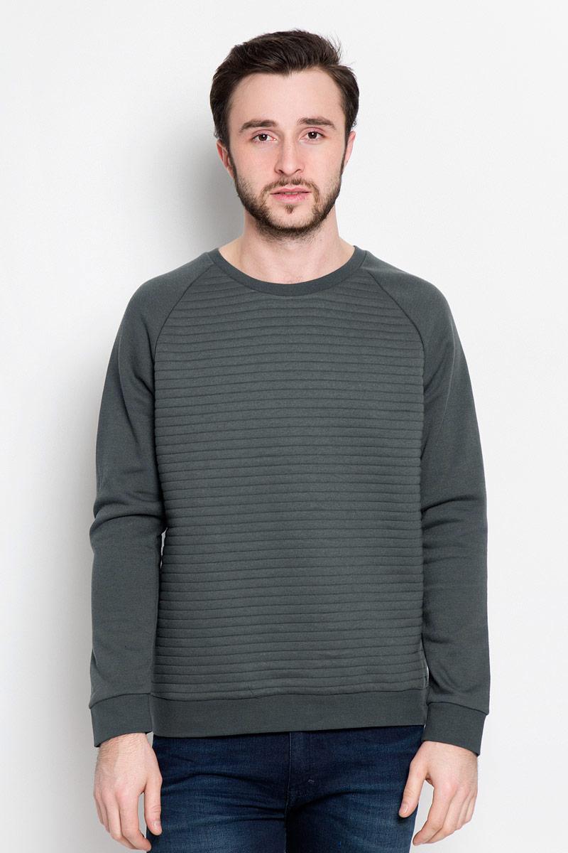 Свитшот мужской Broadway Praktik, цвет: серо-зеленый. 20100393_640. Размер L (50) пуловеры broadway пуловер