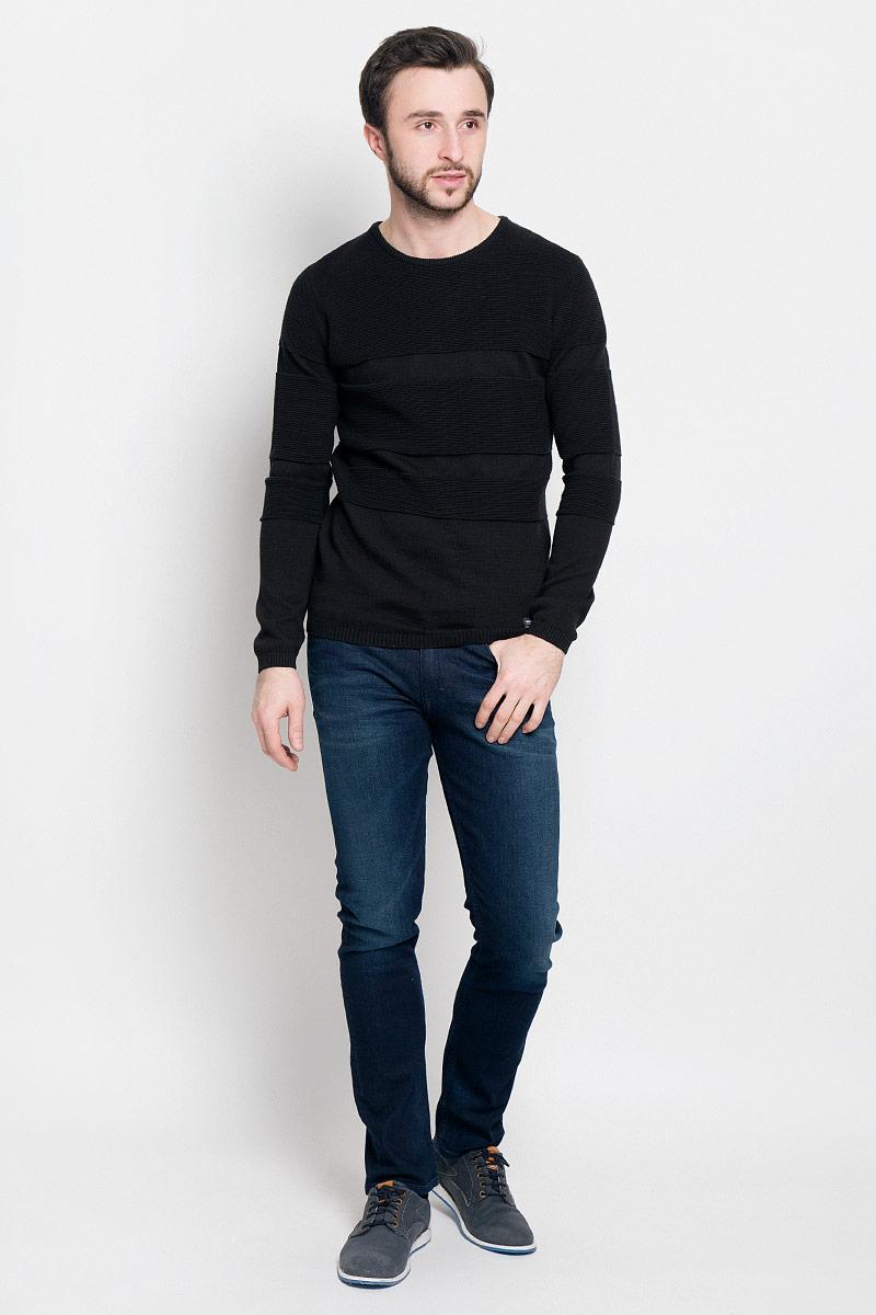 футболка женская tom tailor denim цвет белый черный 1036790 09 71 8005 размер xl 50 Джемпер мужской Tom Tailor Denim, цвет: черный. 3022034.62.12_2999. Размер XL (52)