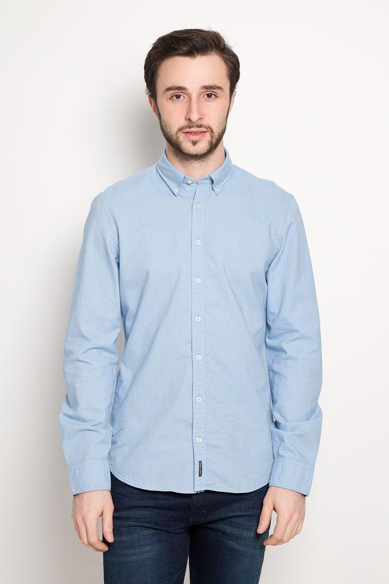 Рубашка мужская Marc O'Polo, цвет: голубой. 178442062_A81. Размер XL (54) рубашка c n c costume national рубашки с отложным воротником