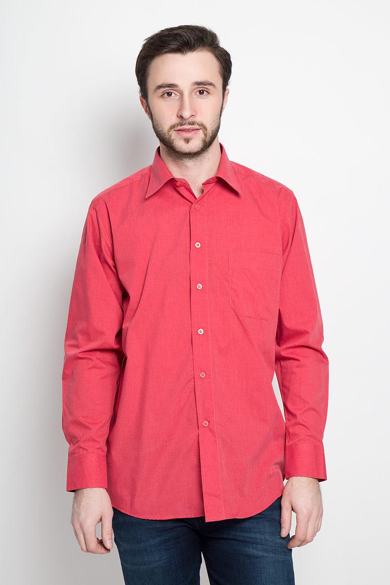 Рубашка мужская Imperator, цвет: красный. 5915-210. Размер 42-182/188 (52-182/188) рубашка мужская overlord han 152 2015