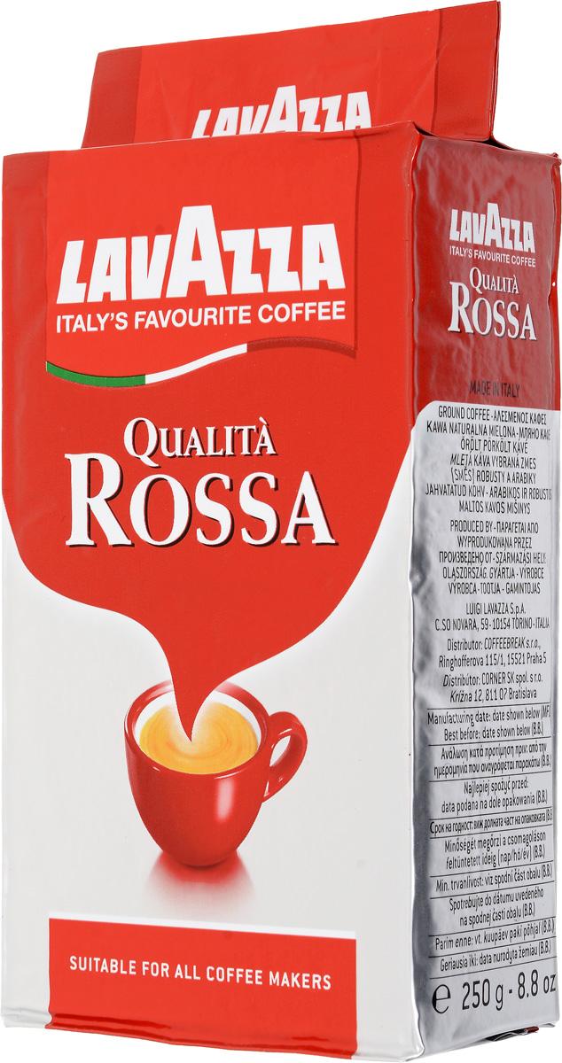 Lavazza Qualita Rossa кофе молотый, 250 г (в/у) кофе в зернах lavazza 3590 rossa 1кг