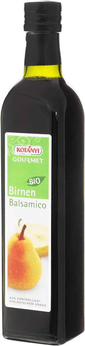 Kotanyi Уксус бальзамический грушевый, 500 мл610501Уксус бальзамический грушевый Kotanyi подходит к салатам и сыру. Концентрированный фруктовый сок из спелых груш выдерживается в дубовых бочках по традиционной методике, приобретая роскошный фруктовый вкус. Все компоненты выращены в экологически чистых условиях.