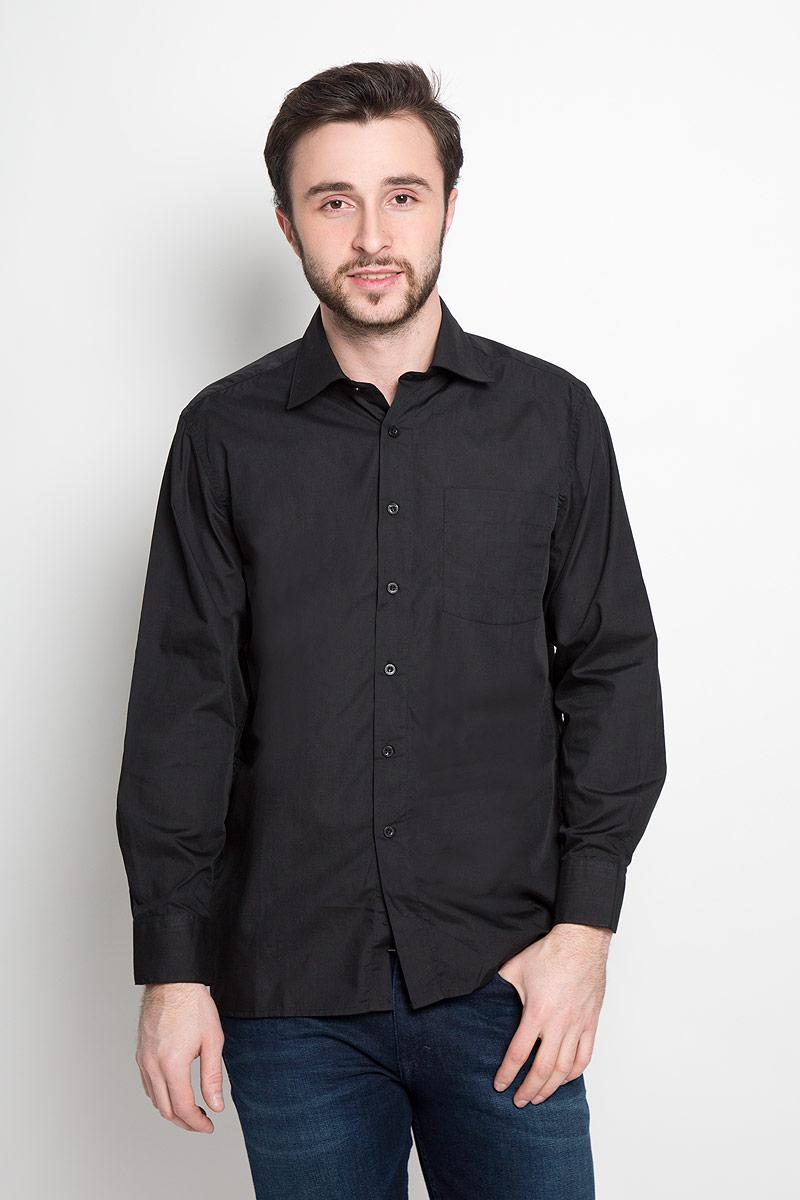 Рубашка мужская Maestro di Castello, цвет: черный. DF 420 ст. Размер 41-182/188 (50-182/188) maestro grand