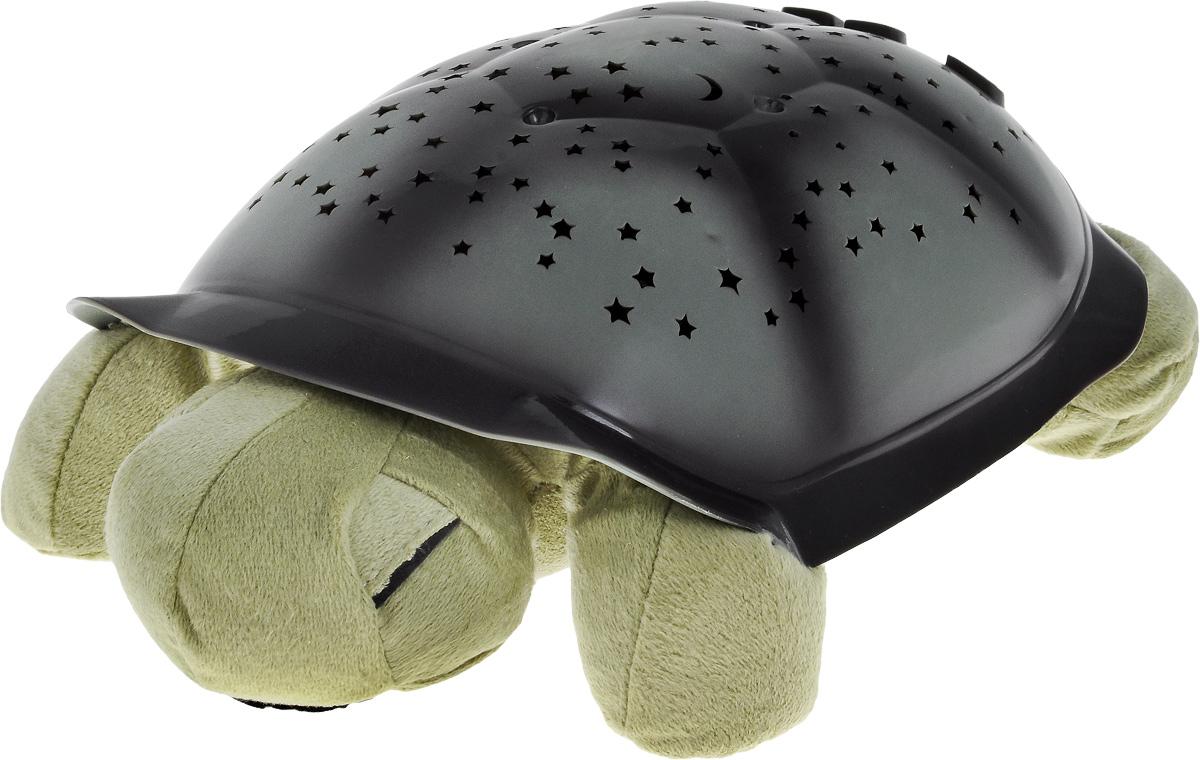 Ночник-проектор Эврика Черепаха, цвет: зеленый94888Ночник-проектор Эврика Черепаха - это оригинальный ночник, который еще и проектирует созвездия в 3 разных тонах. Включив проектор, вы увидите, как на стенах и потолке вашей комнаты появляются удивительные созвездия.Изделие выполнено в виде мягкой игрушки - черепашки, с пластиковым панцирем. Панцирь разделен на 7 различных сегментов, соответствующих семи различным созвездиям: Орион, Дракон, Малая Медведица, Созвездие Большого Пса, Пегас, Близнецы, Большая Медведица. Изображение каждого отдельного созвездия имеет соответствующий номер. Это сделано для того, чтобы помочь найти его на панцире черепашки и на потолке. На панцире расположена кнопка включения и выключения светильника, а также кнопки для включения цветов (синий, янтарный, зеленый). Если нажать кнопку L1 2 раза - три цвета будут переливаться по очереди, если нажать 3 раза - включаются все 3 цвета сразу. Мягкое мерцание и неяркий свет помогают детям успокоиться и быстрее заснуть. Автоматический таймер отключает светильник через 60 минут (при условии, если ни одна из кнопок в течение этого времени не нажималась). Есть возможность питания от внешнего источника питания (4,5 Вольт, 150 Ма), например, от универсального адаптера питания (приобретается отдельно). Ночник работает от 3 батареек типа ААА (в комплект не входят).