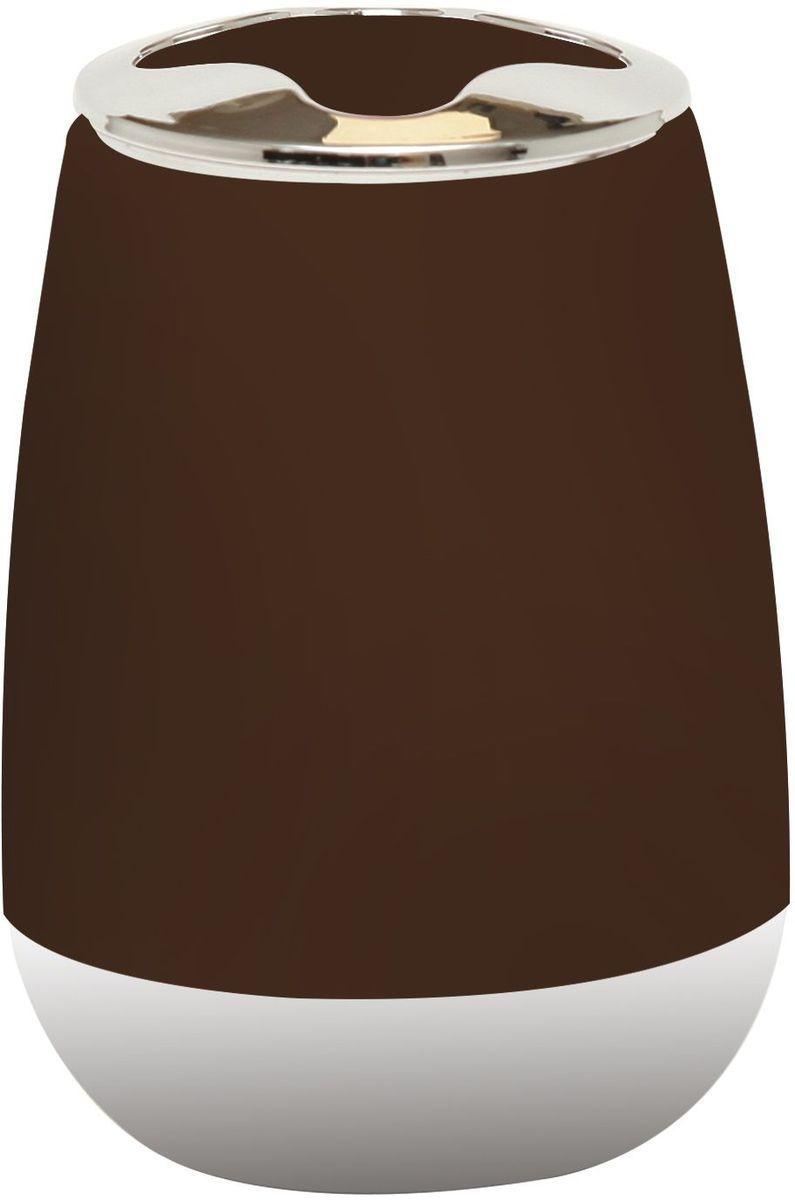 Стакан для зубных щеток Proffi Home, цвет: шоколадный, хром, 200 мл автомобильный аксессуар proffi ph8725