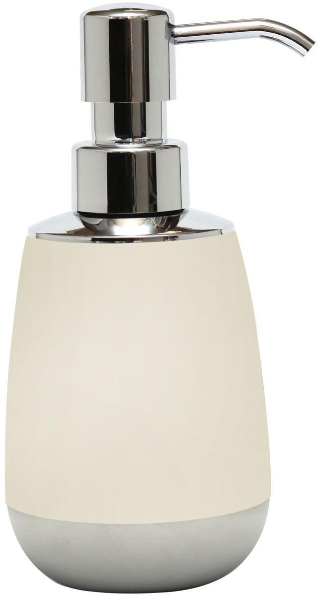 Диспенсер для жидкого мыла Proffi Home, цвет: светло-бежевый, хром, 300 мл proffi шторка для ванной proffi home осень 180х200см