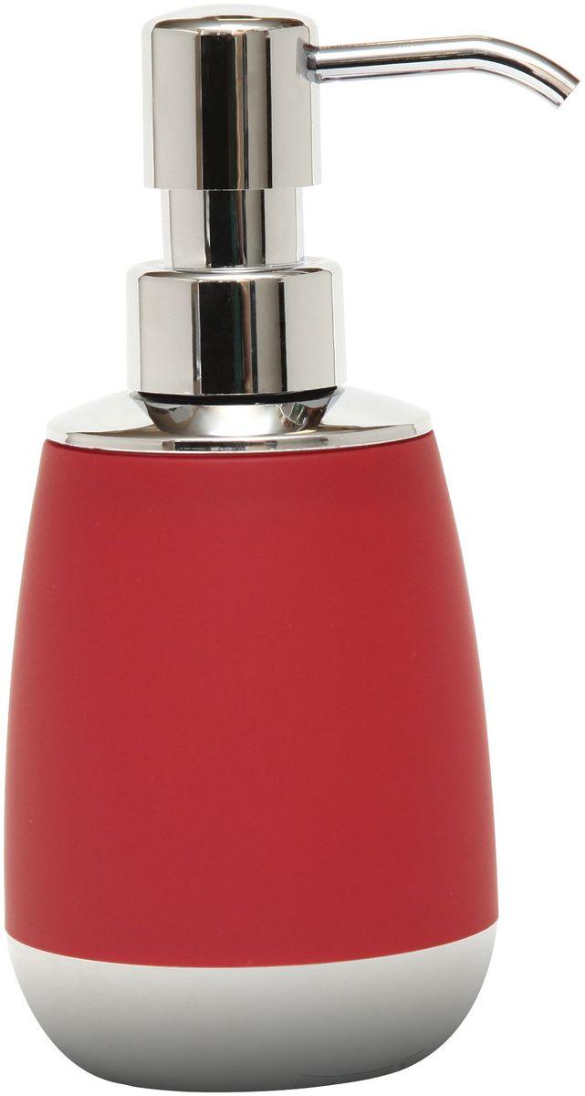 Диспенсер для жидкого мыла Proffi Home, цвет: бордовый, хром, 300 мл proffi шторка для ванной proffi home осень 180х200см