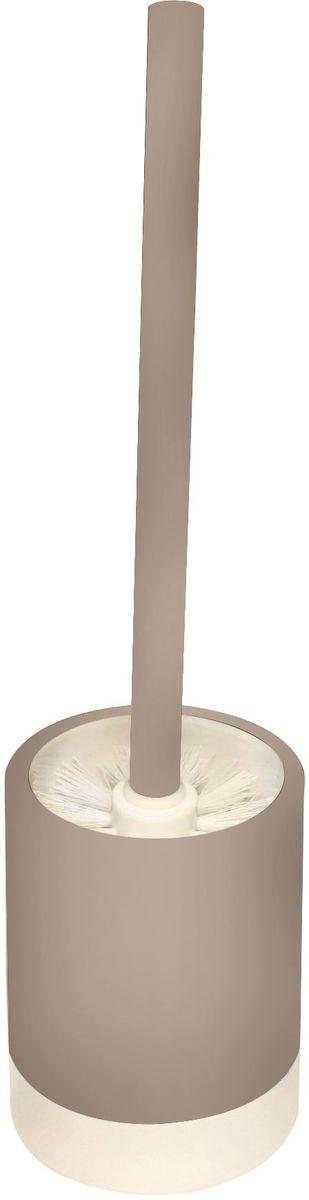 Ершик для унитаза Proffi Home, с подставкой, цвет: бежевый, белый, 2 предмета. PH6470 часы настенные proffi home корица