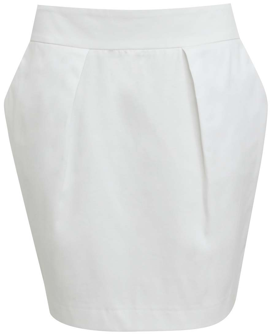 Юбка oodji Ultra, цвет: белый. 11605061/35319/1000N. Размер 34-170 (40-170) юбка oodji ultra цвет белый 11605061 35319 1000n размер 44 170 50 170